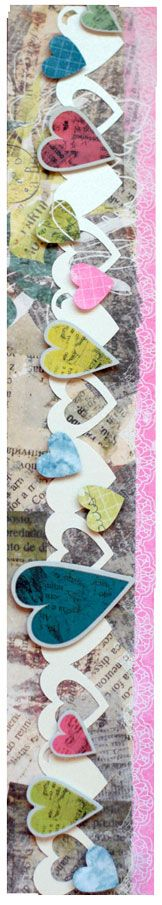 border using Nancy O'Dell Love Additions Scrapbook Border Project Idea and the Double Heart Chain Border Maker Cartridge...very cute!