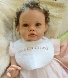 REBORN TODDLER ELLA MAE JANINIE DE LANGE ROOTED LASHES ROOTED SLUMBERLAND MOHAIR