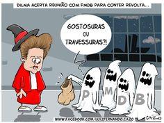 Dilma e o PMDB no dia das Bruxas...