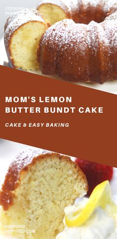 Mom's Lemon Butter Bundt Cake A completely satisfying cake with a crispy, buttery bottom similar to old-fashioned buttermilk donuts. Kissed with the refreshing flavor of lemon, this is a must have cake. Cupcakes, Cupcake Cakes, Bundt Cakes, Healthy Cake Recipes, Dessert Recipes, Yummy Recipes, Just Desserts, Baking Desserts, Cake Baking