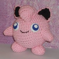 Handmade plush toy based off the Jigglypuff pokemon from the Pokemon game series.