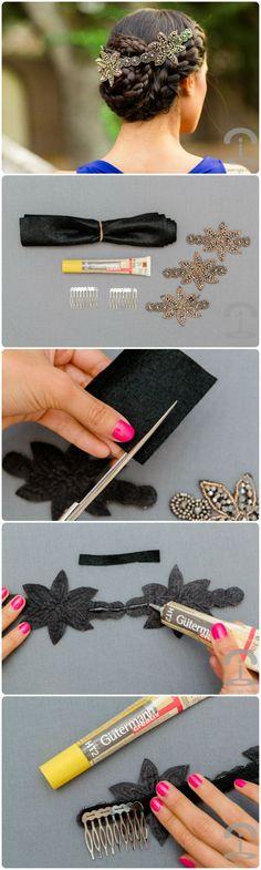 DIY para peineta elegante