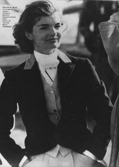 Iconic Jackie exuding equestrian chic.