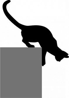 Vector image of silhouette of cat coming down Animal Silhouette, Silhouette Art, Applique Patterns, Quilt Patterns, Cat Template, Templates, Cat Quilt, Scroll Saw Patterns, Cat Crafts