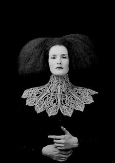 Alexander McQueen for Givenchy. #elizabethan beauty