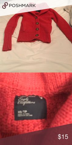 American eagle Heavy cardigan 👚 ❄️ Super warm and comfy! It's like a Scarlett red color. FINAL REDUCTION American Eagle Outfitters Sweaters Cardigans