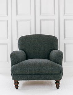 Manor Harris Tweed Chair in Granite buy online now from Rose and Grey, eclectic home accessories and stylish furniture for vintage and modern living. Plywood Furniture, Leather Furniture, Find Furniture, Vintage Sofa, Vintage Furniture, Duck Egg Blue Living Room, Vintage Home Accessories, Outdoor Dining Chairs, Lounge