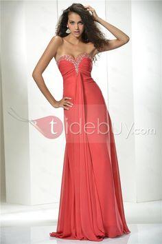 Vestido de Prom/Noche con Escote Corazón y Dobladillo Largo al Piso y Silueta Línea A (Envío Gratuito)