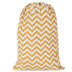 Printed Laundry Bag-Yellow Chevron