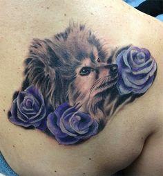 pomeranian tattoo