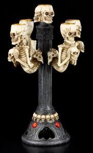 Skelett - Totenkopf Kerzenhalter 5-fach