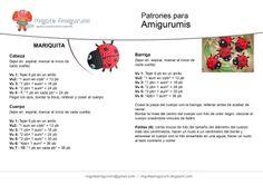 Risultati immagini per amigurumi patrones Crochet Doll Pattern, Crochet Motif, Diy Crochet, Crochet Crafts, Crochet Toys, Crochet Patterns, Crochet Bookmarks, Amigurumi Patterns, Crochet Animals