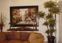 Pretty Tuscan Living Room.
