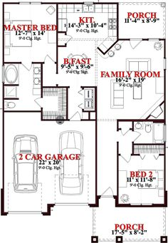 1336 sq ft... House Plan 78771 at FamilyHomePlans.com
