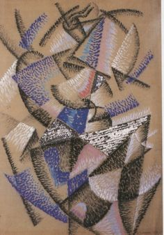 """Shape of a Dancer in the Light"" Gino Severini, 1912 - A pastel drawing with Sequins!"