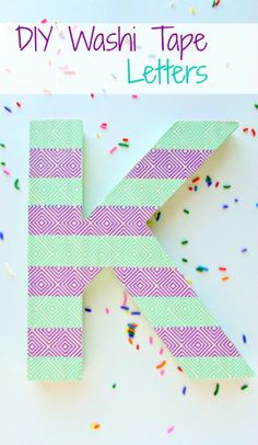 DIY Wall Letters and Initals Wall Art - DIY Washi Tape Letters - Cool Architectural Letter Projects for Living Room Decor, Bedroom Ideas. Girl or Boy Nursery. Paint, Glitter, String Art, Easy Cardboard and Rustic Wooden Ideas http://diyprojectsforteens.com/diy-projects-with-letters-wall