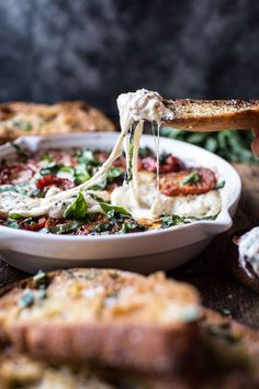 Margherita Pizza Dip (with Burrata)   halfbakedharvest.com @hbharvest