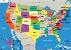"""This is just one problem with having 50 relatively sovereign states — along with their counties, 64 parishes, 41 independent cities, and 19 boroughs: """"New York and California [are] already instituting strict measures to stem the spread of the. States And Capitals, United States Map, U.s. States, Lincoln Illinois, Sacramento City, Arizona City, Olympia Washington, Jefferson City, Nevada City"""