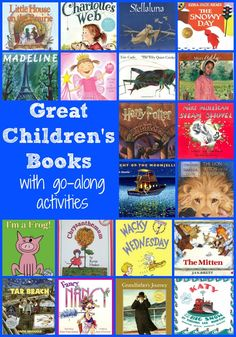 Big list of children's books with go-along activities for each book. Great children's literature and book activities.long list of favorite children's books and activities to go along with each one. Library Lessons, Library Books, Library Ideas, Kid Books, Preschool Books, Preschool Activities, Library Activities, Reading Resources, Elementary Library