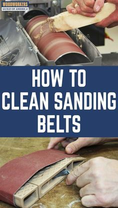 Want to get more life out of your sandpaper? If you've been wondering how to clean sanding belts, good news is, it's easy. All you need is an abrasive cleaning stick.