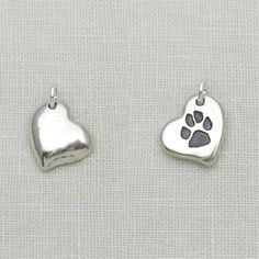 Sterling Silver Heart with Cremation Ashes and Paw Print or Photo The ashes are encapsulated within the silver, so you only see the texture. Handmade Sterling Silver, Sterling Silver Pendants, Silver Jewelry, Unique Gifts For Men, Gifts For Women, Fingerprint Jewelry, Cremation Ashes, Memorial Jewelry, Personalized Jewelry