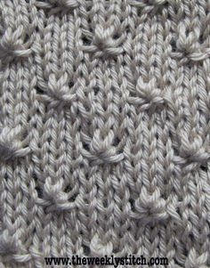 Knot Stitch - Just the right amount of texture to use in an otherwise stockinette stitch garment! From The Weekly Stitch