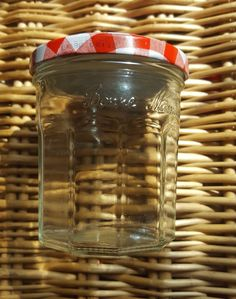 Empty Jars 3 x Bonne Maman Red Gingham Lids Red Gingham, Empty, Mason Jars, Mason Jar, Red Umbrella, Glass Jars, Jars