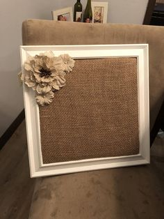 12x12 inch decorative cork board. Good for pictures, grocery lists, other reminders! Good gift idea for anyone as the colors I use are always neutral unless requested otherwise.