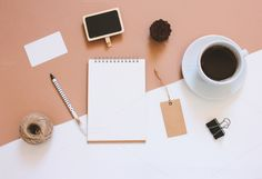 Creative flat lay photo of workspace desk with stationery, coffee and blank notebook with copy space background, minimal styled - stock photo Still Life Photography, Creative Photography, Flat Lay Photography Instagram, Photography Bags, Product Photography, Flat Lay Inspiration, Flat Lay Photos, Flatlay Styling, Stationery