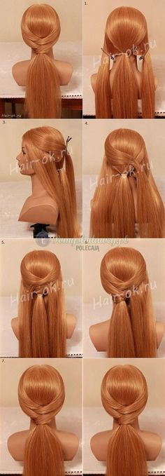 Dressed up low ponytail.