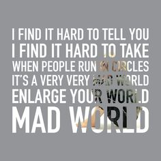 Tears for Fears - Mad World Album: The Hurting (1983)