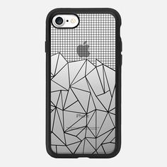 Abstract Grid Outline Black Transparent -   #casetifyiphone7 #iphone7 #geometric #abstract #phonecase