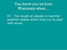 you know you're from wisconsin - Google Search