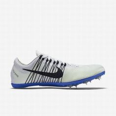 03258bee6908 Nike Men s White Racer Blue Black Zoom Victory 2 Unisex Track Spike