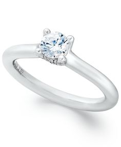 Hearts.Arrows.Together™ Diamond Ring, 14k White Gold Diamond Solitaire Ring (1/2 ct. t.w.) - Wedding & Engagement Rings - Jewelry & Watches - Macy's