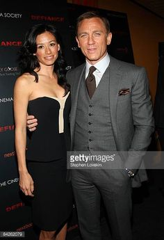Actor Daniel Craig and Satsuki Mitchell attend a screening of 'Defiance' hosted by The Cinema Society Nextbook at Landmark Sunshine Theater on...