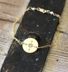 This lovely compass bracelet. | 18 Gifts For Anyone With A Heart Full Of Wanderlust