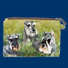 Ruth Maystead Zippered Pouch - Schnauzer