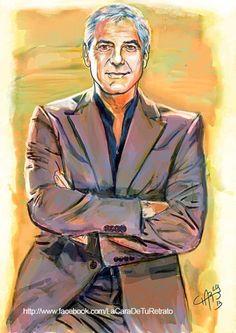 Retrato George Clooney - Retratos | Dibujando.net