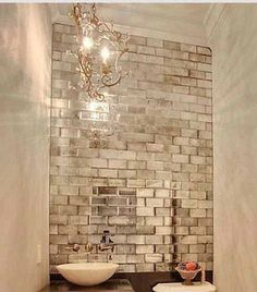 Antiqued mirror beveled wall tiles/ bathroom kitchen MY-Furniture brick size