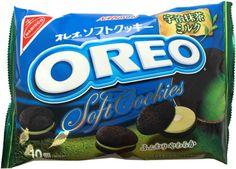 Nabisco Green Tea Oreo Soft Cookies $5.00 http://thingsfromjapan.net/nabisco-green-tea-oreo-soft-cookies/ These are like mini matcha green tea oreo cakesters! mm :)