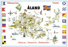 map of Åland Norway Sweden Finland, Faroe Islands, Baltic Sea, Archipelago, Map, Roots, Scandinavian, Traveling, Spaces