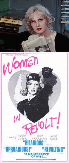 Candy Darling in Women in Revolt Andy Warhol, Holly Woodlawn, Candy Darling, Poster Retro, Paint Photography, Cool Posters, Movie Posters, Dangerous Woman, Cultura Pop