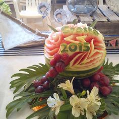 Centro sandia mesa de frutas by Art de Fruita