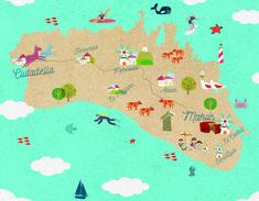 Menorca Map - #alquiler #menorca http://www.mnkvillas.com/
