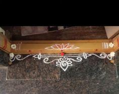 Simple Rangoli Border Designs, Rangoli Borders, Rangoli Designs Flower, Free Hand Rangoli Design, Small Rangoli Design, Rangoli Designs With Dots, Rangoli Designs Images, Rangoli With Dots, Beautiful Rangoli Designs