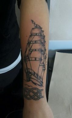 Tattoo ship traditional oldschool vessel