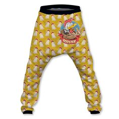 Rooster Baggy Pant Baggy Shorts, Elastic Waist, Rooster, Harem Pants, Hoodies, Slouchy Pants, Harem Trousers, Sweatshirts, Hoodie