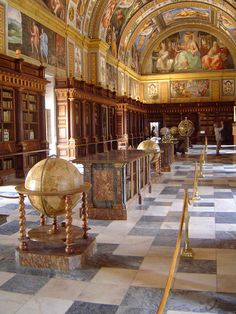 Biblioteca del Escorial    Spain    by César Atanes, via Flickr