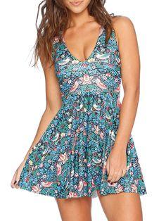 Strawberry Thief Marilyn Dress - 48HR (AU $95AUD) by Black Milk Clothing